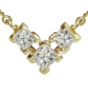 Buy Princess Cut 18ct White Gold Diamond Necklaces