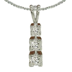 Image for Modern Princess Diamond Trilogy Pendant