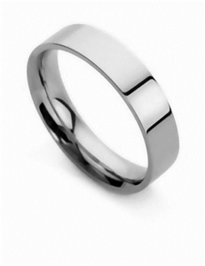 Men's Flat Court Wedding Rings