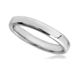 Image for 2.5mm Rounded Flat Court Wedding Ring