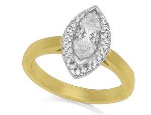 Image for Marquise Diamond Halo Ring