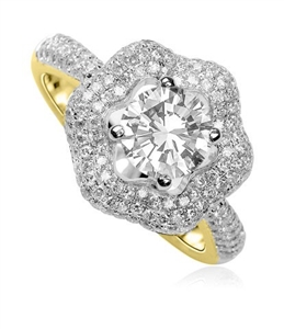 18ct Yellow Gold Designer Diamond Rings
