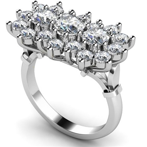 Image for Round Diamond Cluster Ring