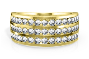 9ct Yellow Gold Mens Diamond Rings