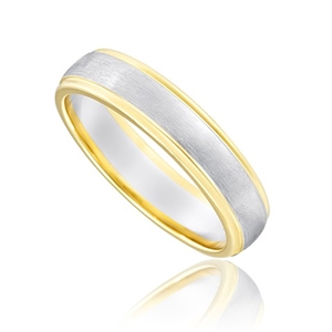 Buy Mens Two Tone Wedding Rings Online
