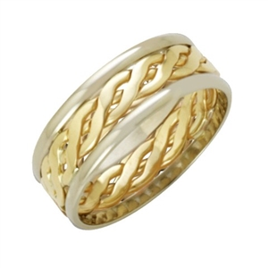 Image for 7mm Two-Tone Celtic Wedding Ring