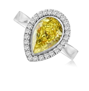 Image for Fancy Yellow Pear Diamond Cluster Ring