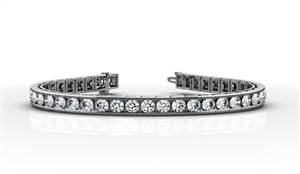 Image for Modern Round Diamond Tennis Bracelet