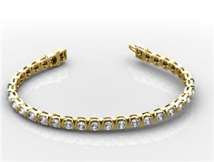 Image for Unique Round Diamond Tennis Bracelet