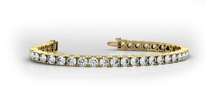 Buy Round 18ct Yellow Gold Diamond Bracelets