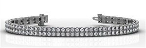 Buy 9ct White Gold Double Row Tennis Bracelets
