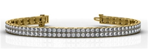 Buy 9ct Yellow Gold Double Row Tennis Bracelets