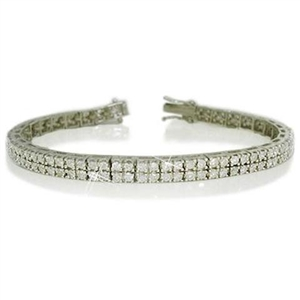 Image for Double Row Round Diamond Tennis Bracelet