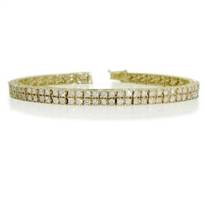 Image for Classic Double Row Round Diamond Tennis Bracelet