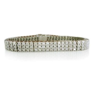Buy 18ct White Gold Three Row Tennis Bracelets