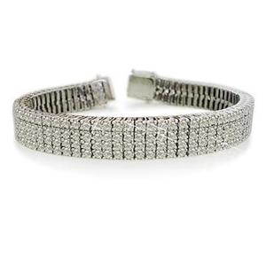 Buy 18ct White Gold Four Row Tennis Bracelets