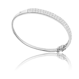 Image for Unique Round Diamond Set Bangle