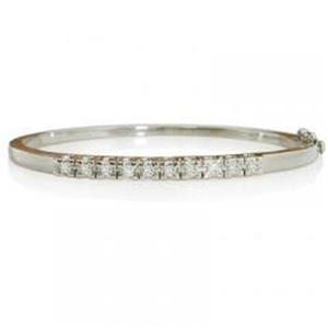 Buy Princess Cut 18ct White Gold Diamond Bracelets