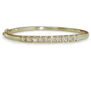 Buy Princess Cut 18ct Yellow Gold Diamond Bracelets