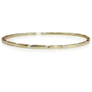 Image for Oval Shaped Round Diamond Set Bangle