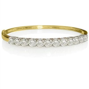 Buy 18ct Yellow Gold Diamond Bangles