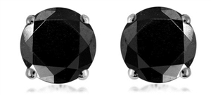 Buy 18ct Yellow Gold Black Diamond Earrings