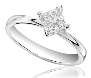Image for Corner Twist Princess Diamond Engagement Ring