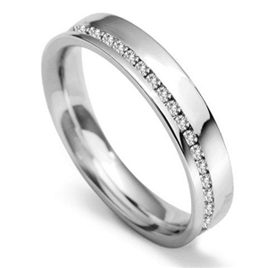 Image for 4mm Offset 40% Round Diamond Wedding Ring