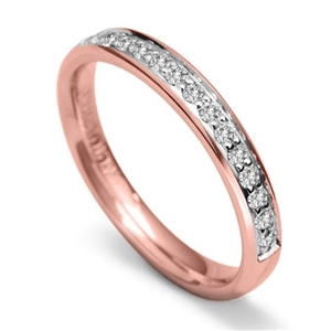 Image for 2.5mm Round Diamond 60% Wedding Ring