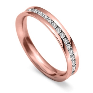 Image for 3.5mm Round Diamond 60% Wedding Ring