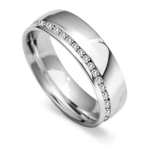 Image for 6mm Round Diamond 60% Wedding Ring