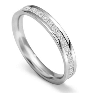 Image for 3mm Full Set Princess Diamond Wedding Ring