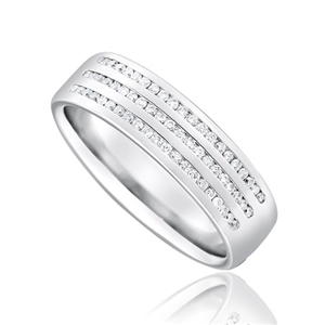 Image for 1/3 Set 6mm Round Diamond Wedding Ring