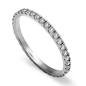 Image for Full Set Round Diamond Vintage Wedding Ring
