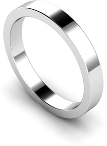 Flat Wedding Rings