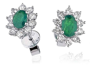 Image for Emerald & Diamond Earrings