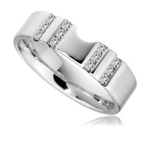 Image for 6mm Shaped Diamond Wedding Ring