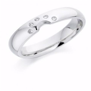Image for 4mm Shaped Diamond Wedding Ring
