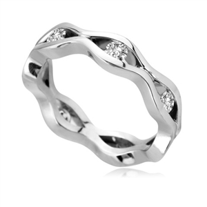 Image for 4.5mm Round Diamond Shaped Wedding Ring