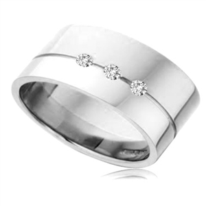 Image for 10mm Round Diamond Wedding Ring