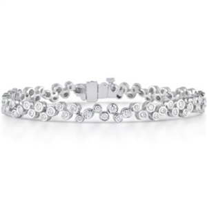 Buy 9ct White Gold Designer Diamond Bracelets