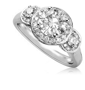 Image for Round Diamond Trilogy Ring
