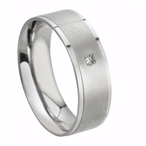 Palladium Mens Diamond Rings