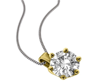 Buy 18ct Yellow Gold Diamond Necklace
