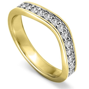 Image for 3.5mm Round Diamond set Shaped Wedding Ring