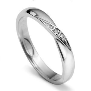 Image for 3mm Round Diamond set Shaped Wedding Ring