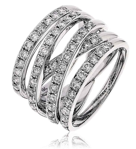 Image for Criss Cross Round Diamond Dress Ring