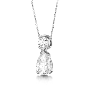 Image for Round & Pear Diamond Designer Pendant