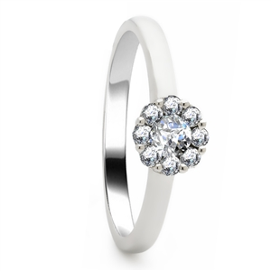 Image for 0.60CT Elegant Round Diamond Cluster Ring