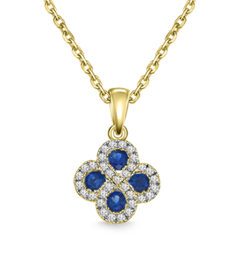 Buy 18ct Yellow Gold Gemstone & Diamond Necklaces
